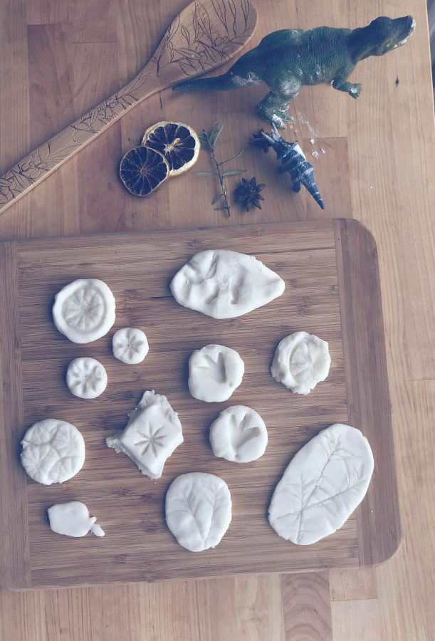 With everyone being stuck inside right now I have been finding more ideas for fun, creative activities with the kids. This DIY air dry clay is super easy to make and fun to play with.