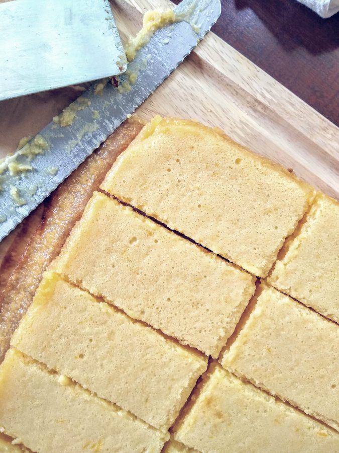These lemon bars are inspired by a recipe from my grandma. I made them at my restaurant and they were always a favorite. We always had two options, a plain lemon bar and one with fruit. We did blueberry, raspberry, strawberry and blackberry. So yummy!