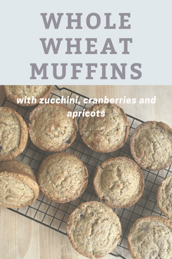 Tart cranberries and sweet apricots compliment wheat flour in these whole wheat muffins while zucchini adds moisture. They make a great choice for the morning or a healthy addition for brunch.