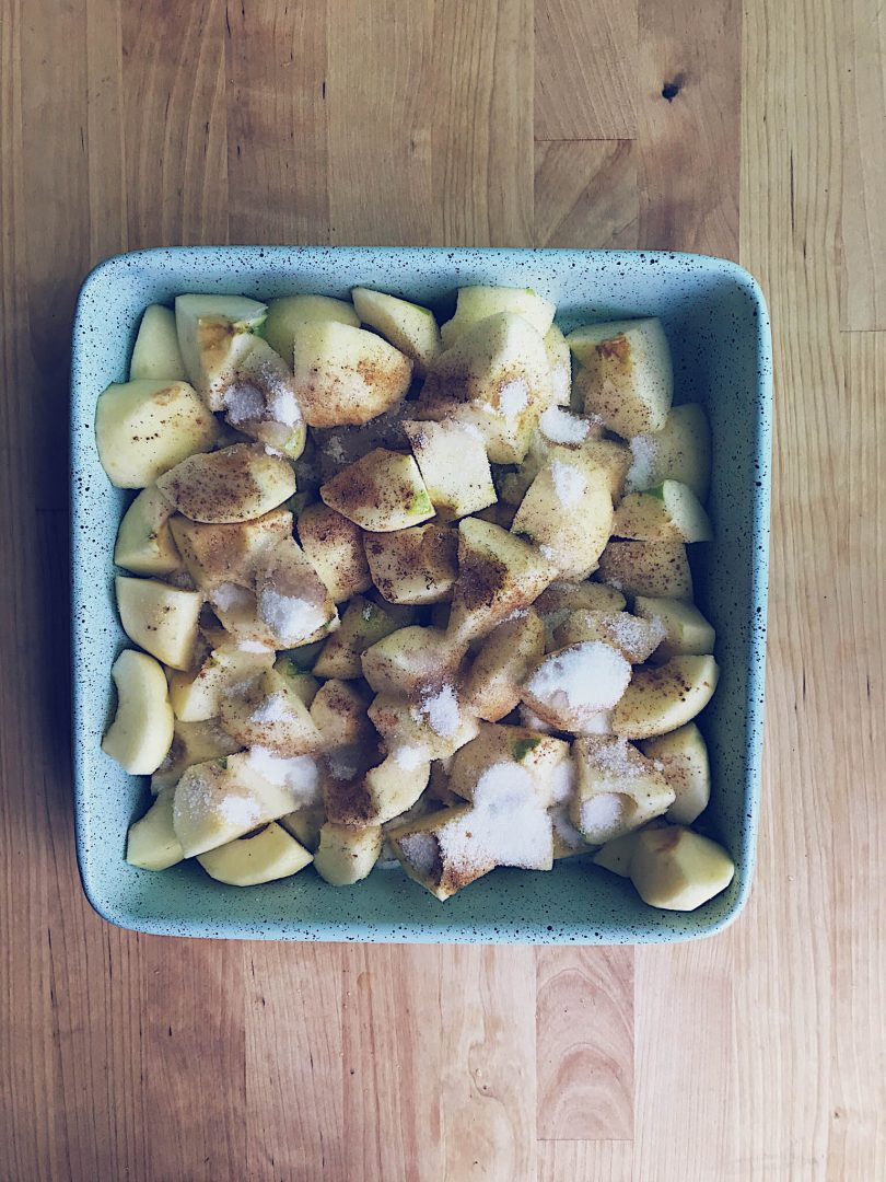 This baked applesauce was the side that was included with your breakfast sandwich or wrap at my restaurant.