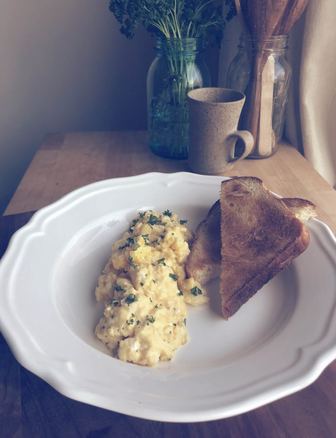 scrambled eggs | two ways