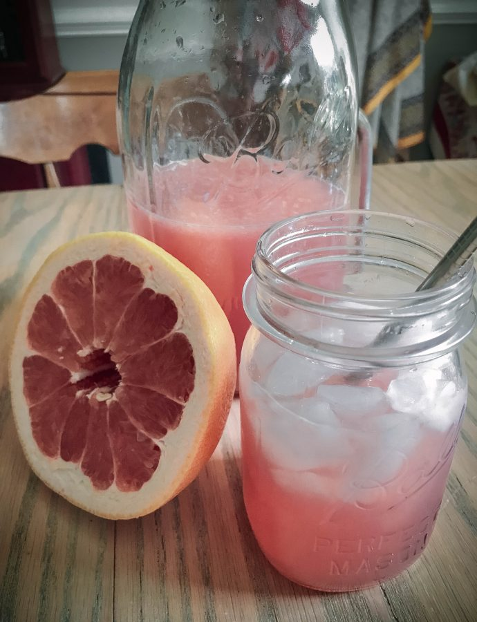 grapefruit hibiscus lemonade