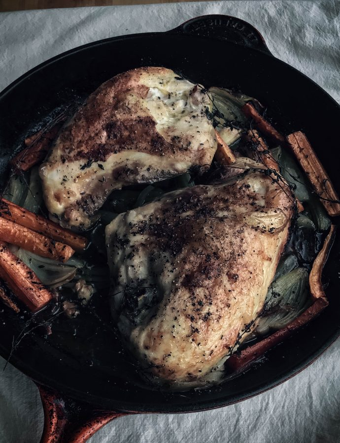 simple roasted chicken | oven or grill